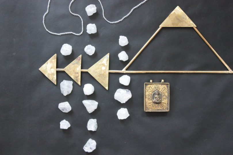 brass arrow wall hanging