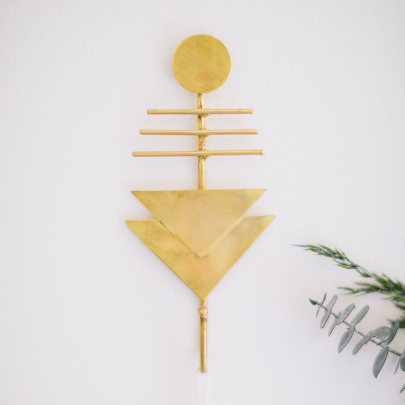 Gold Geometric Wall Hook
