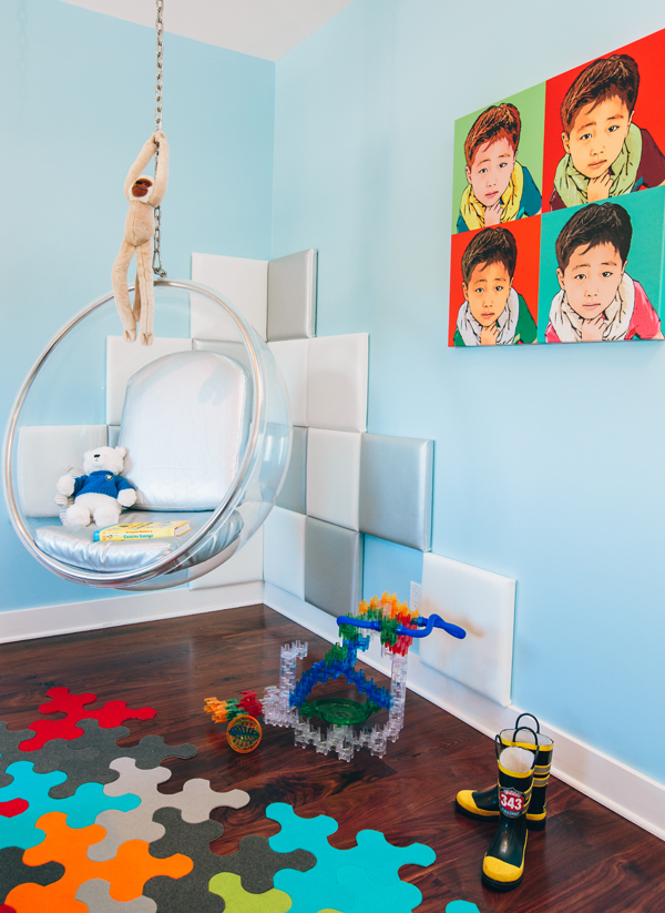 Pop Modern Boy's Bedroom designed by Little Crown Interiors