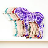 zebra monogram wall hanging