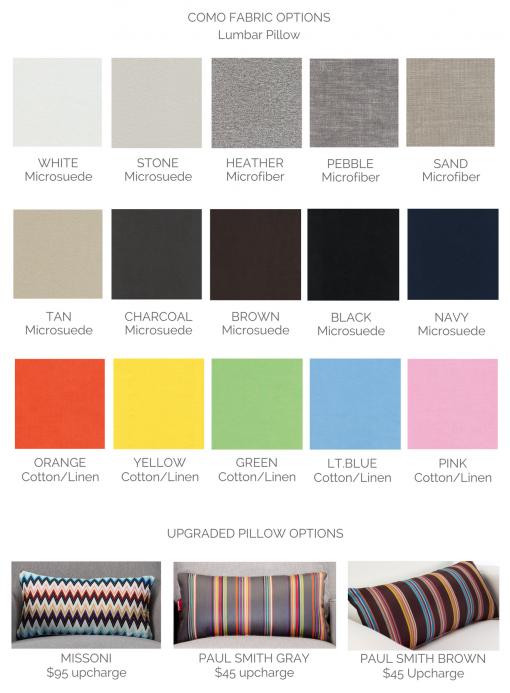 Como Glider Colors | Little Crown Interiors