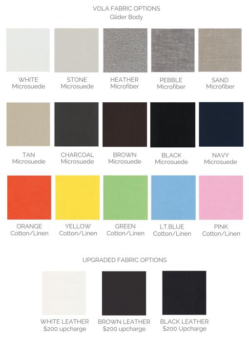 Vola Modern Glider Colors | Little Crown Interiors