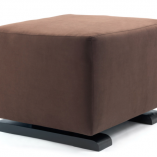 Brown Vola Modern Ottoman | Little Crown Interiors