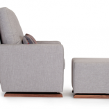 Como Modern Glider and Ottoman | Little Crown Interiors