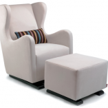 Vola Modern Glider and Ottoman | Little Crown Interiors