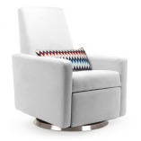 White Leather Modern Glider | Little Crown Interiors
