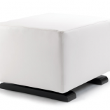 White Vola Modern Ottoman | Little Crown Interiors