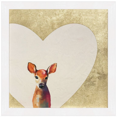 Gold Baby Deer Artwork | Little Crown Interiors Shop