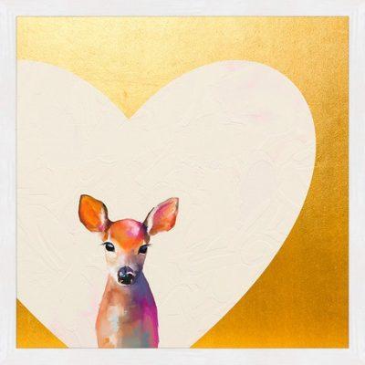Gold Baby Deer Art | Little Crown Interiors