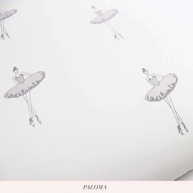 Nursery and Kids Ballerina Wallpaper | Little Crown Interiors Shop