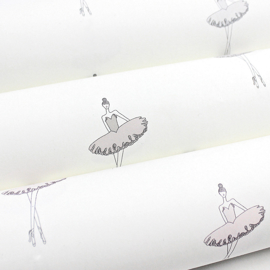 Nursery Ballerina Wallpaper | Little Crown Interiors Shop