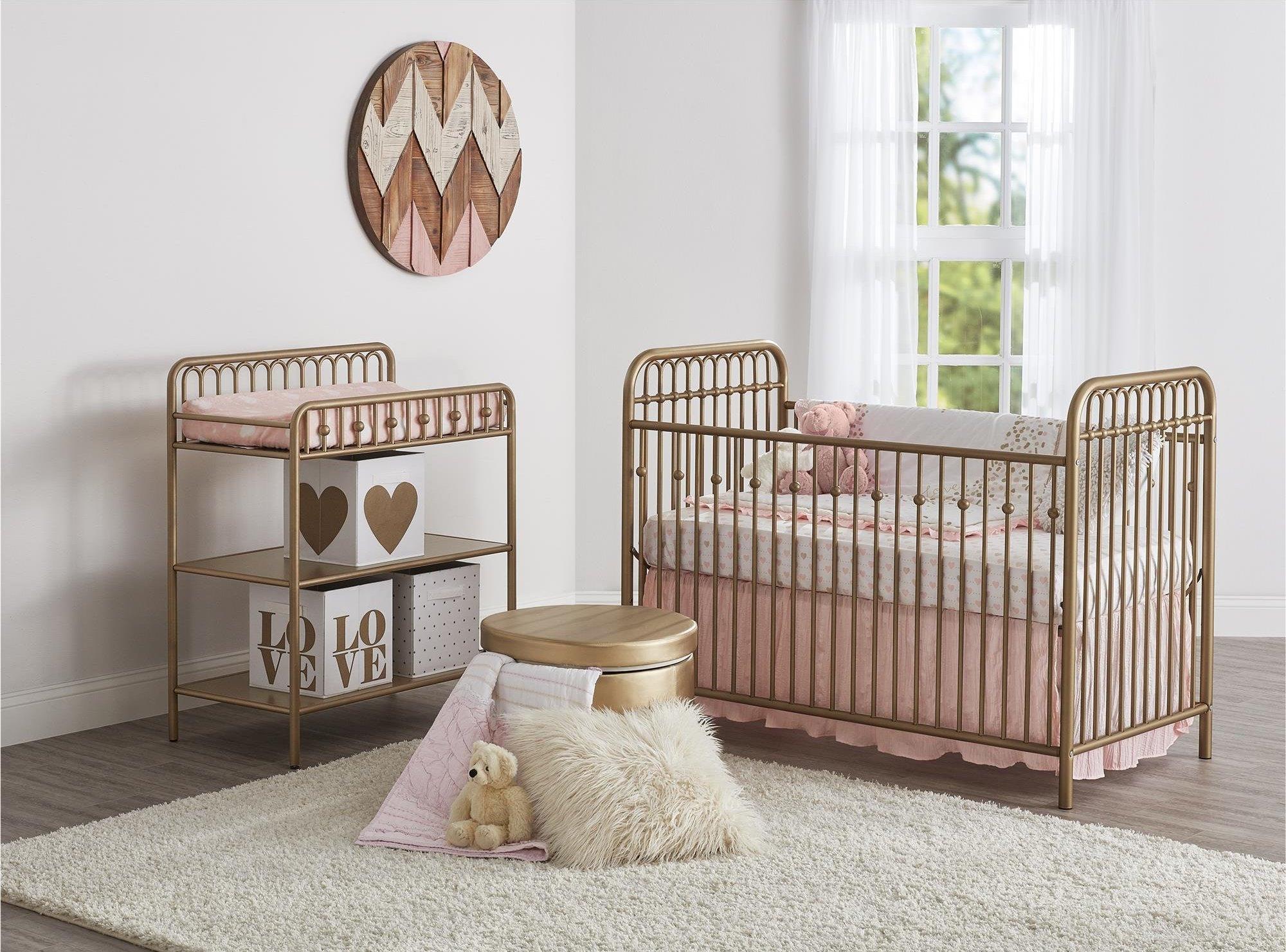 Little-Seeds-Gold-Metal-Crib | Little Crown Interiors