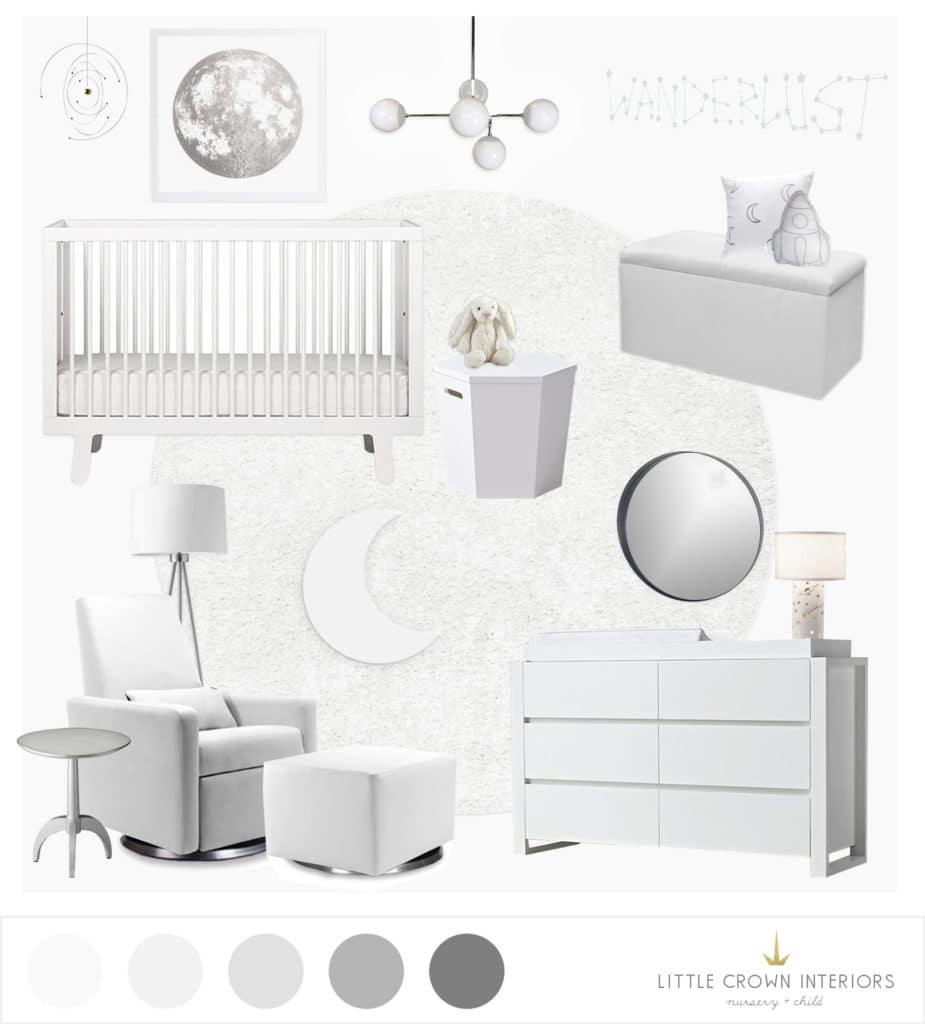 An all white nursery e design reveal little crown interiors all white nursery e design little crown interiors sisterspd