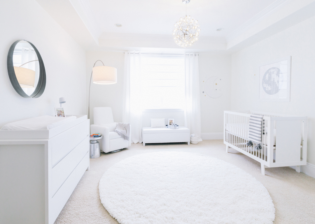 Little crown interiors all white celestial nursery - Little crown interiors ...