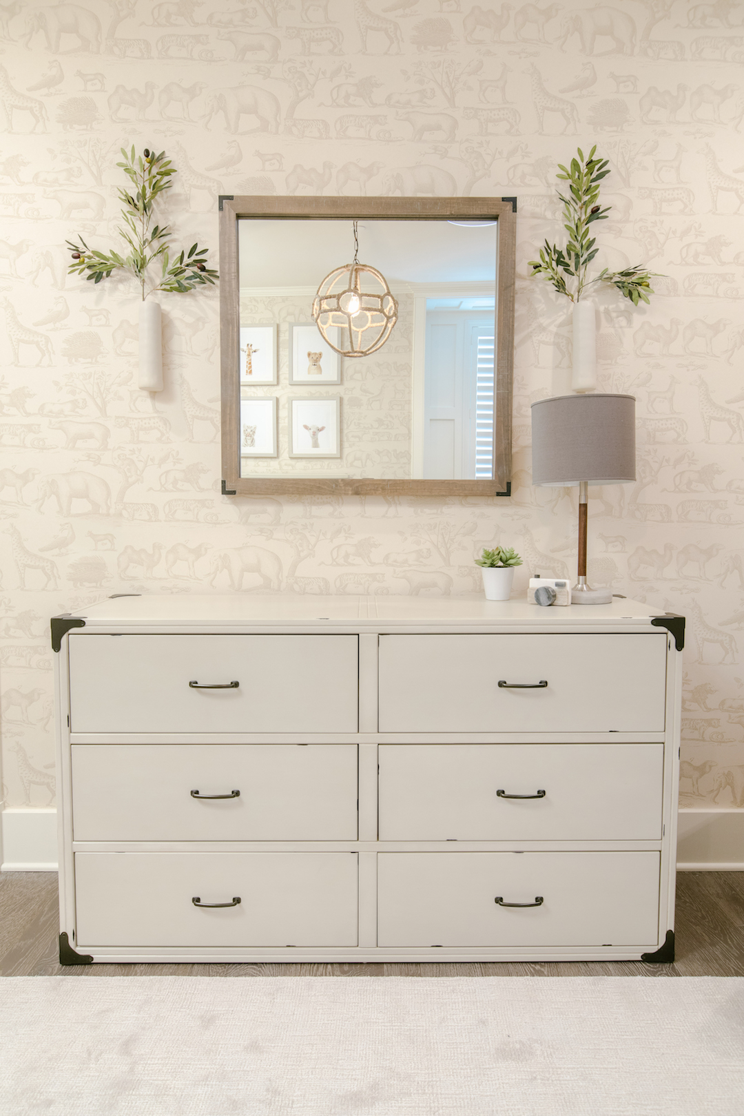 Neutral Nursery Changing Table | Little Crown Interiors