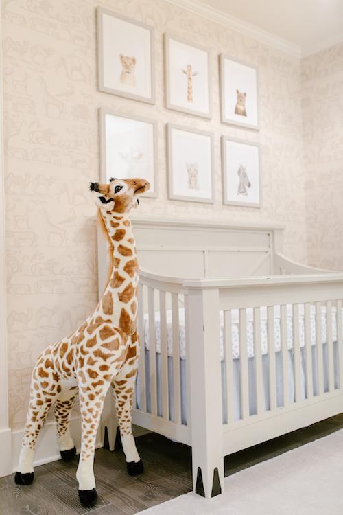 Large Plush Giraffe Little Crown Interiors