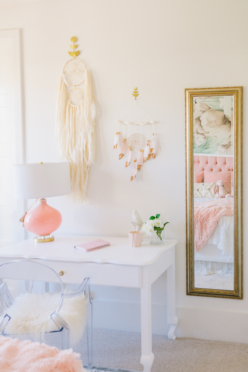 Pink Girl's Bedroom by Little Crown Interiors