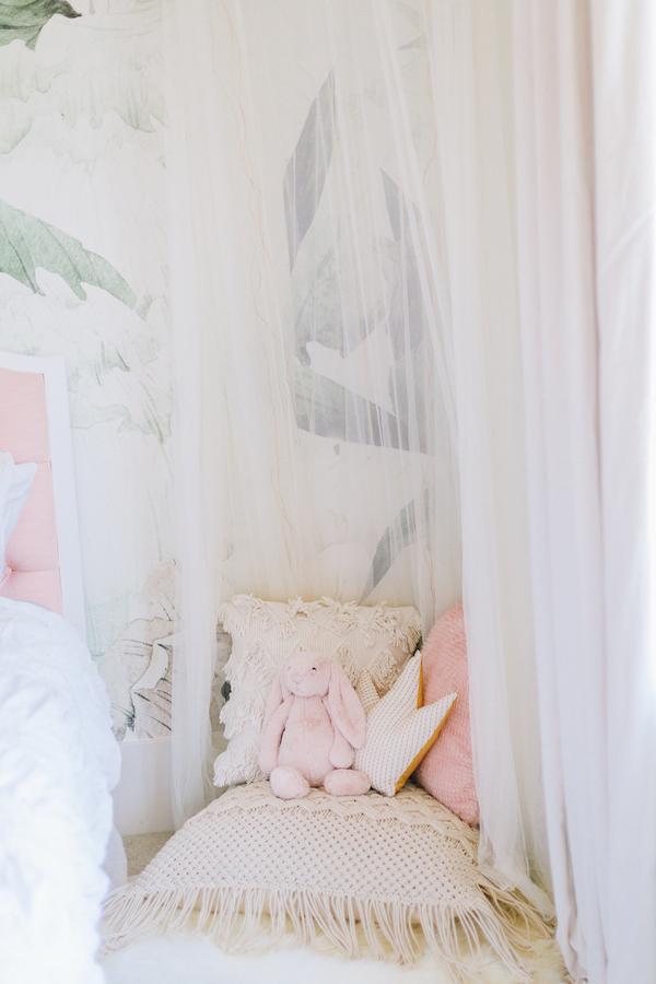 Girl's Bedroom Hanging Canopy | Little Crown Interiors