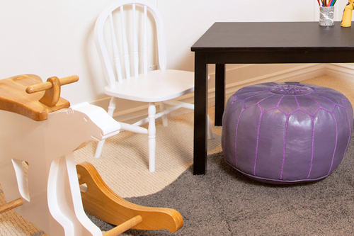 Lavender Kid's Playroom by Little Crown Intreriors