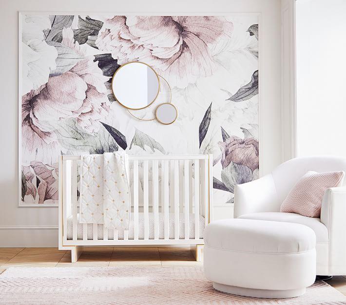 Nursery Design Board Inspired by PB Modern Baby