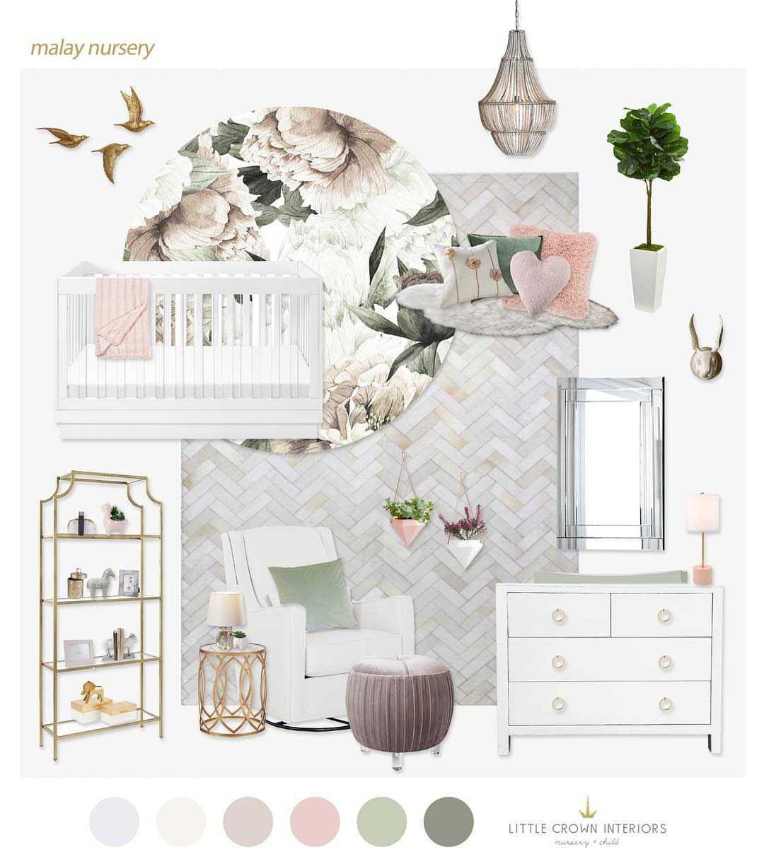 Jessi Malay's Nursery designed by Little Crown Interiors