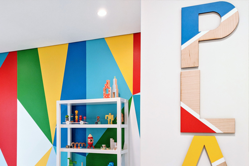 Abstract Modern Playroom | Little Crown Interiors