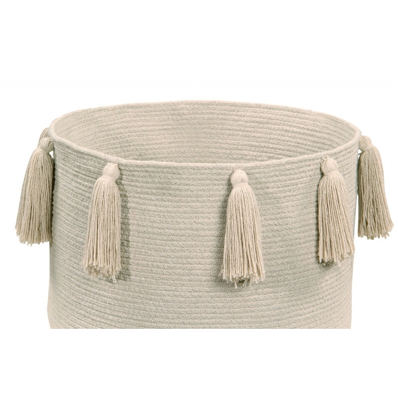 Natural Tassels Storage Basket
