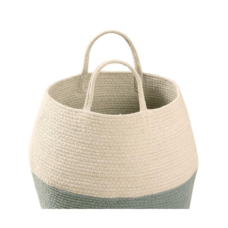 Cotton Storage Basket in Blue and Neutral