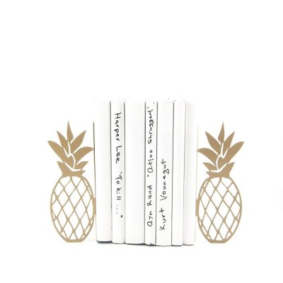 Gold Metal Pineapple Bookends
