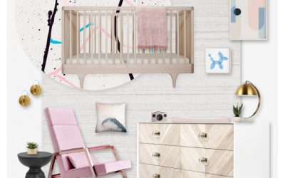 A Nursery Design Board Inspired by an Adult Space