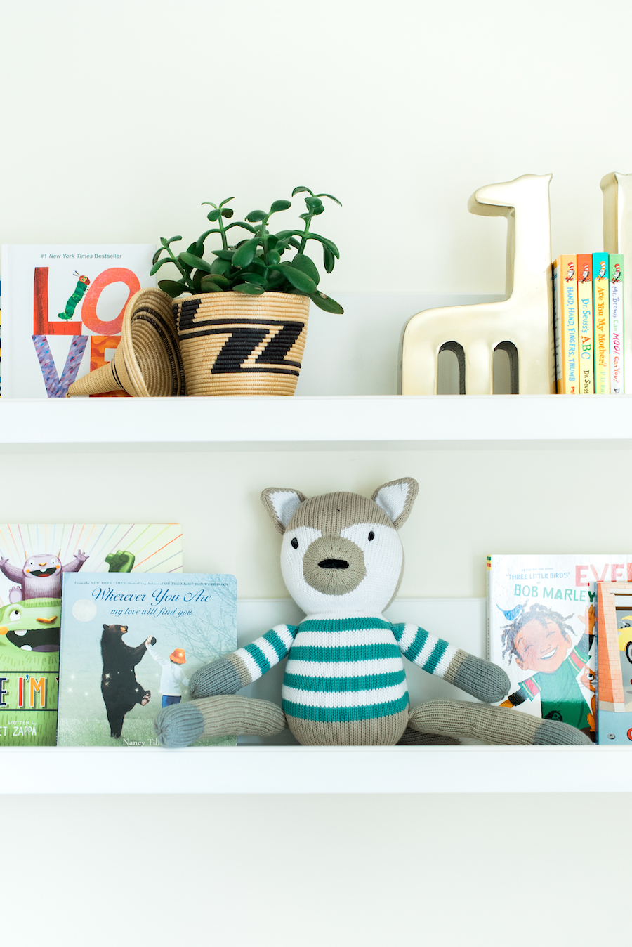 Gender Neutral Nursery Wall Shelves | Little Crown Interiors