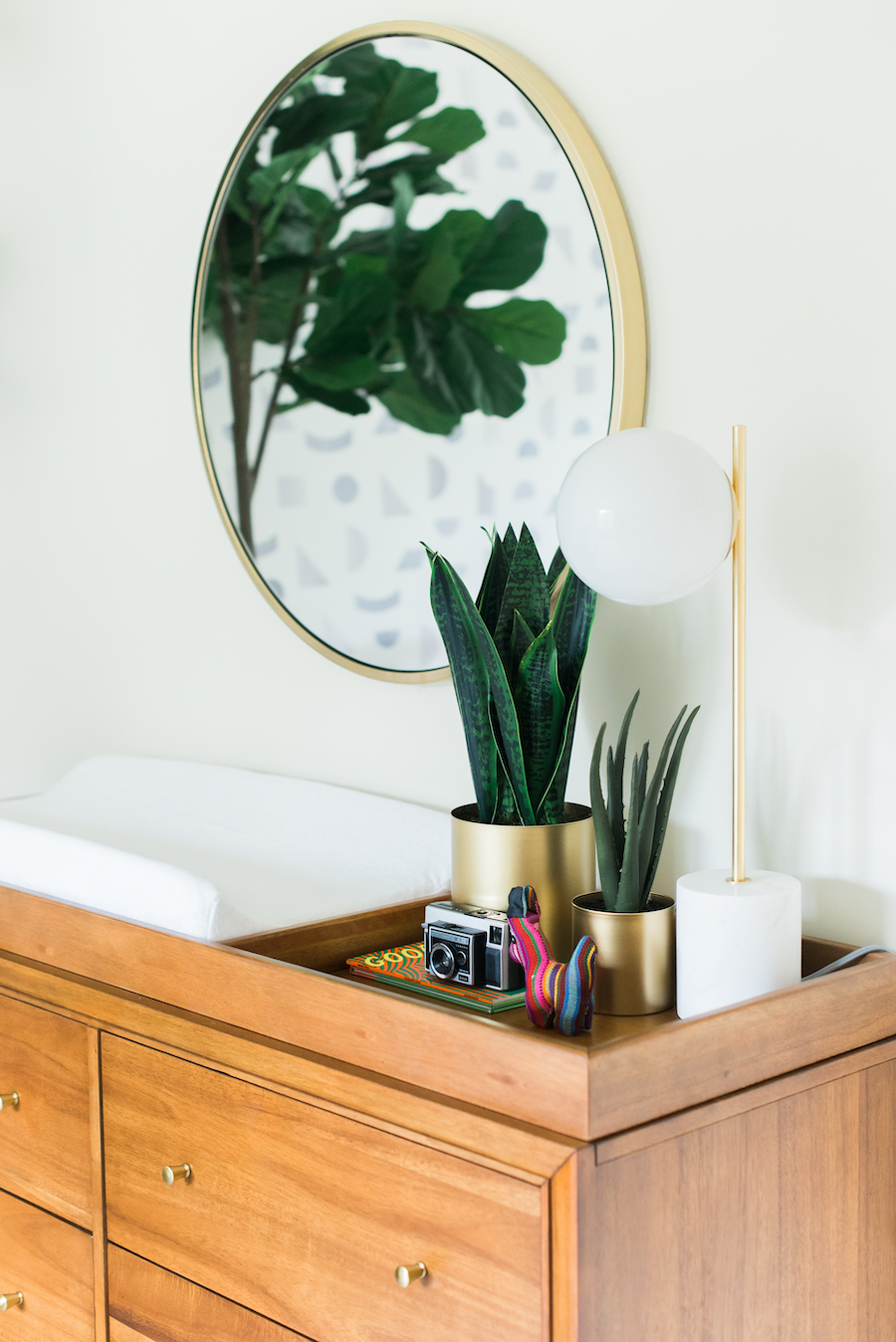 Mid Century Modern Changing Table | Little Crown Interiors