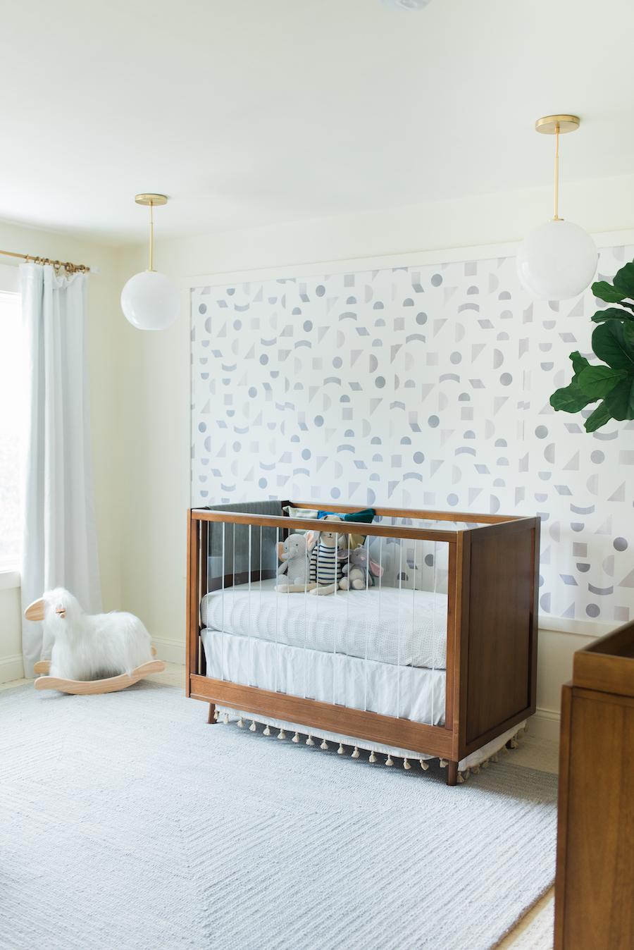 Jenna kutcher nursery acrylic crib little crown interiors - Little crown interiors ...