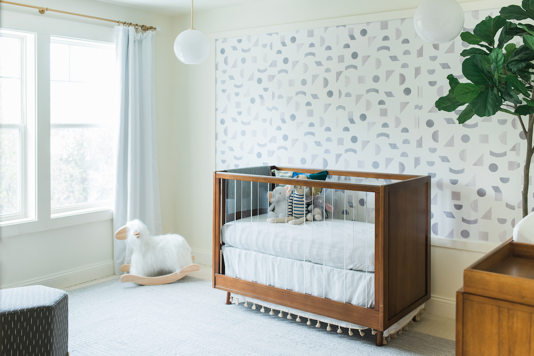 Gender Neutral Nursery Wallpaper | Little Crown Interiors