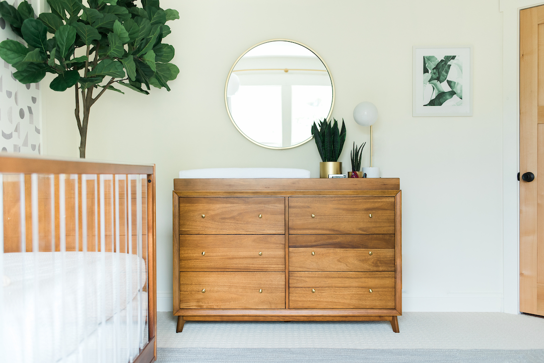 Gender Neutral Mid Century Nursery by Little Crown Interiors