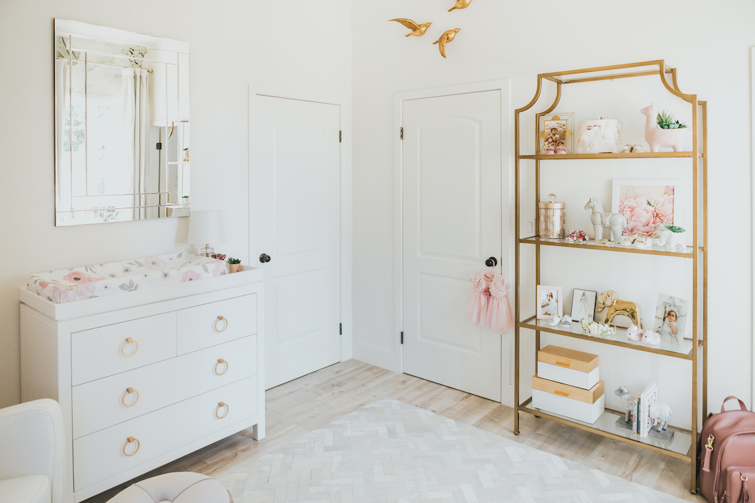 White and Gold Nursery | Little Crown Interiors