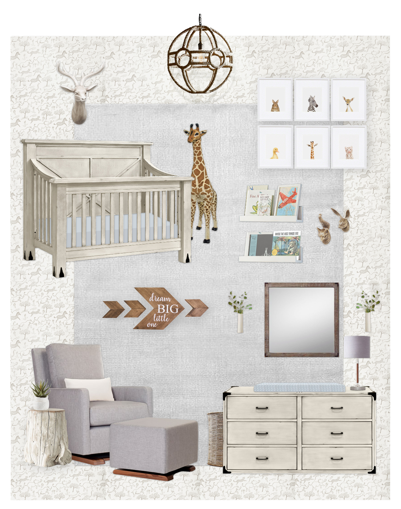 Boy's Nursery E-Design by Little Crown Interiors