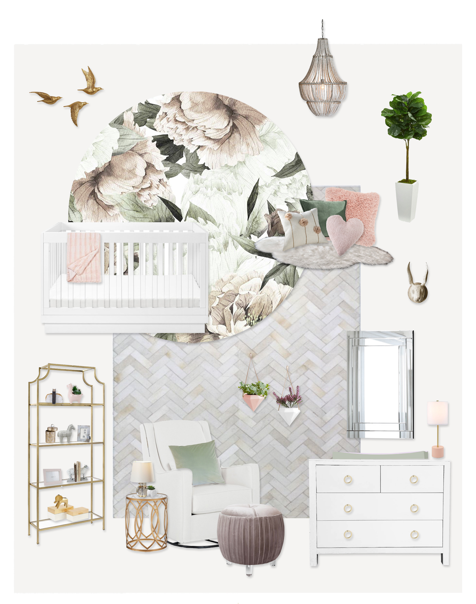 Girl's Nursery E-Design by Little Crown Interiors