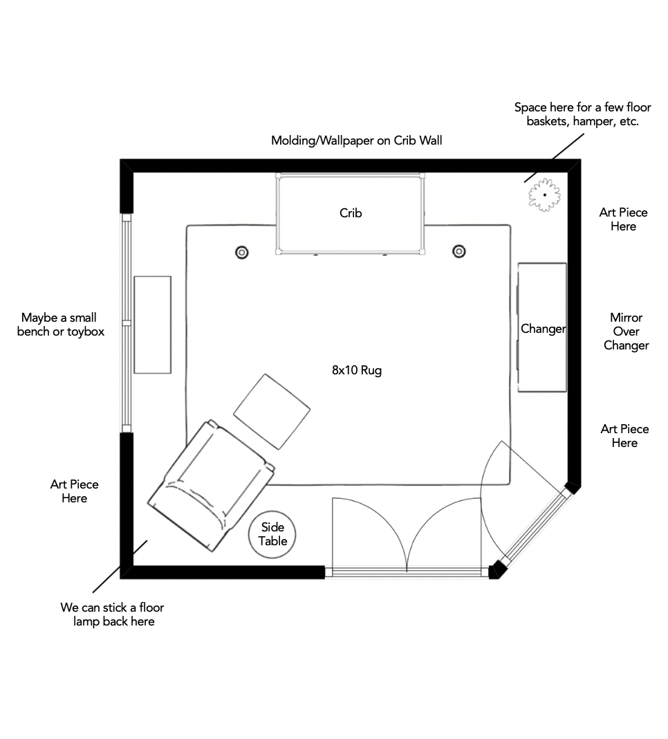 E-Design Nursery Floor Plan