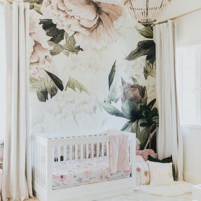 2018 Nursery Trends: Floral Wallpaper