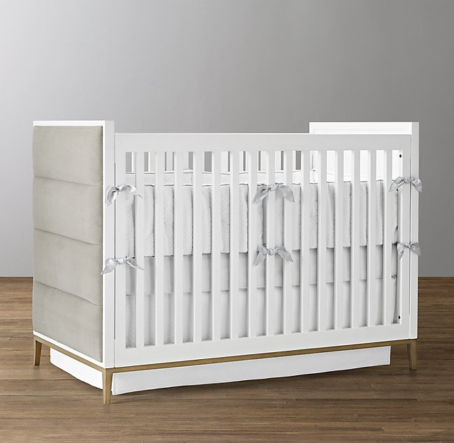 Restoration Hardware Loew Upholstered Crib