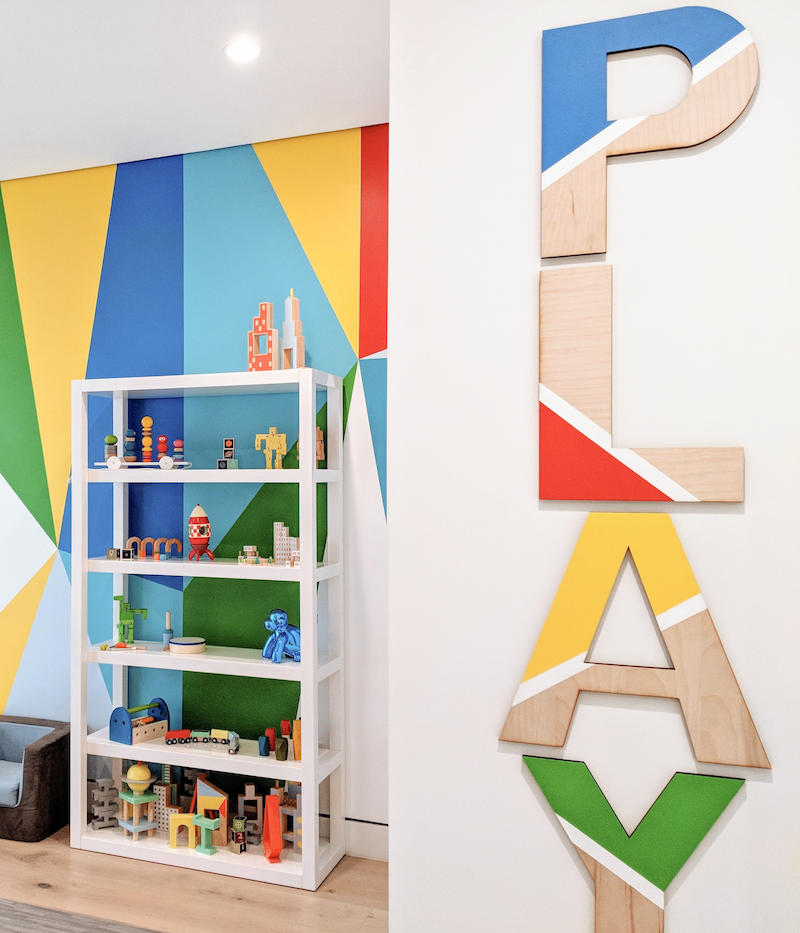 Colorful Playroom Design by Little Crown Interiors