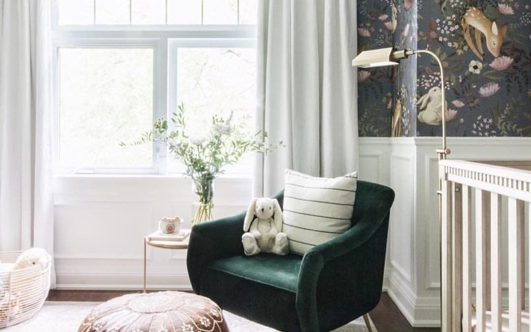 How High to Install Curtains in the Nursery or Kid's Room
