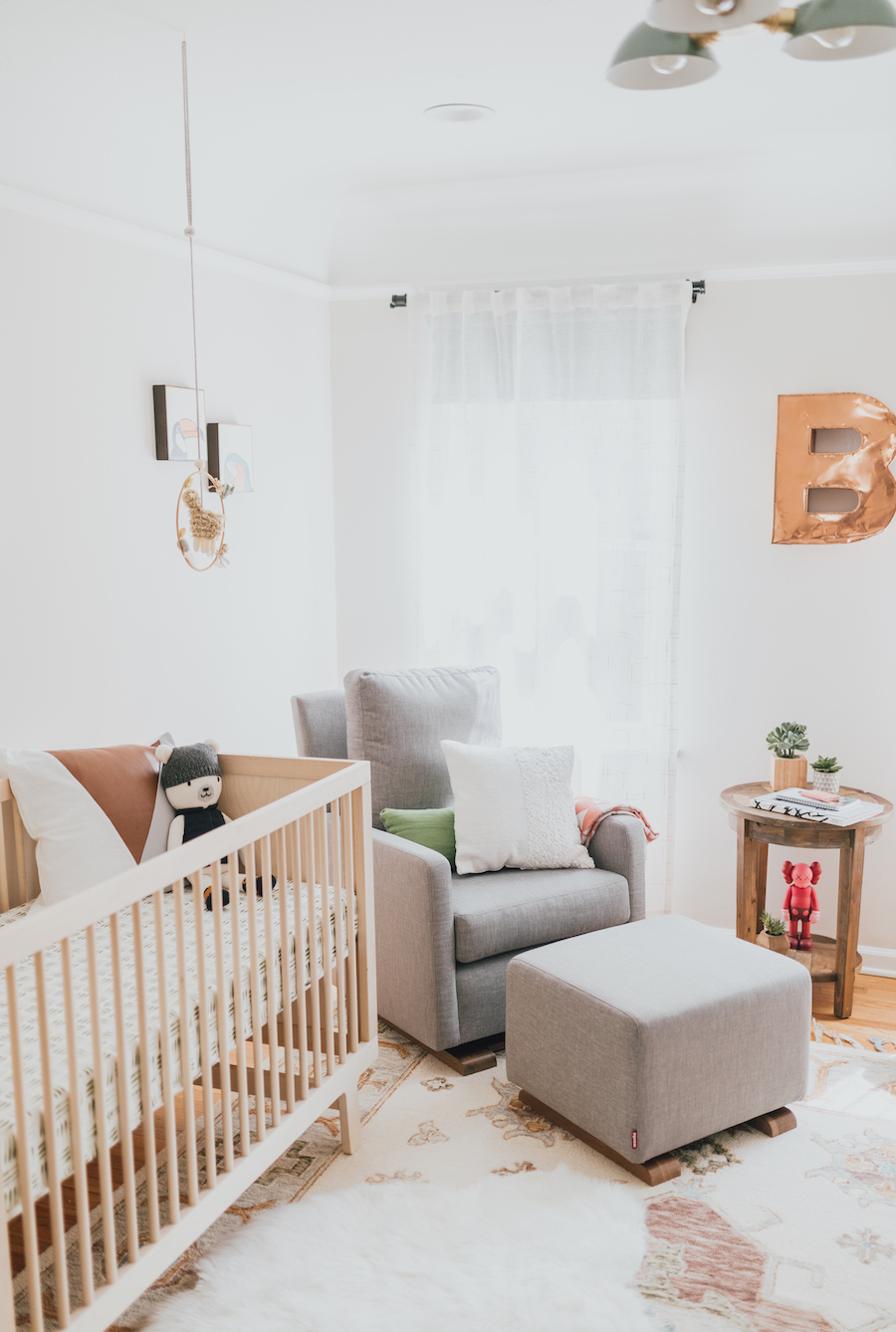 Eclectic Modern Nursery Design | Little Crown Interiors