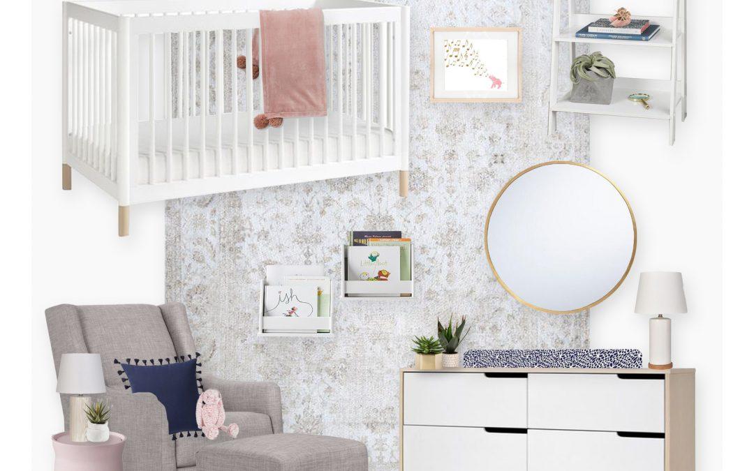 A Modern Pastel Nursery E-Design Reveal