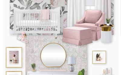 My First Draft of a Floral Girl's Nursery for Irene Khan