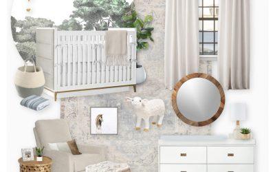 A Gender Neutral Nursery E-Design Reveal (Two Ways)