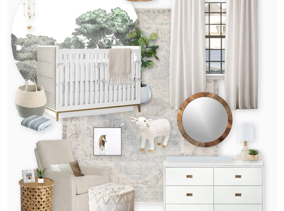 A Gender Neutral Nursery E-Design Reveal (Two Ways)