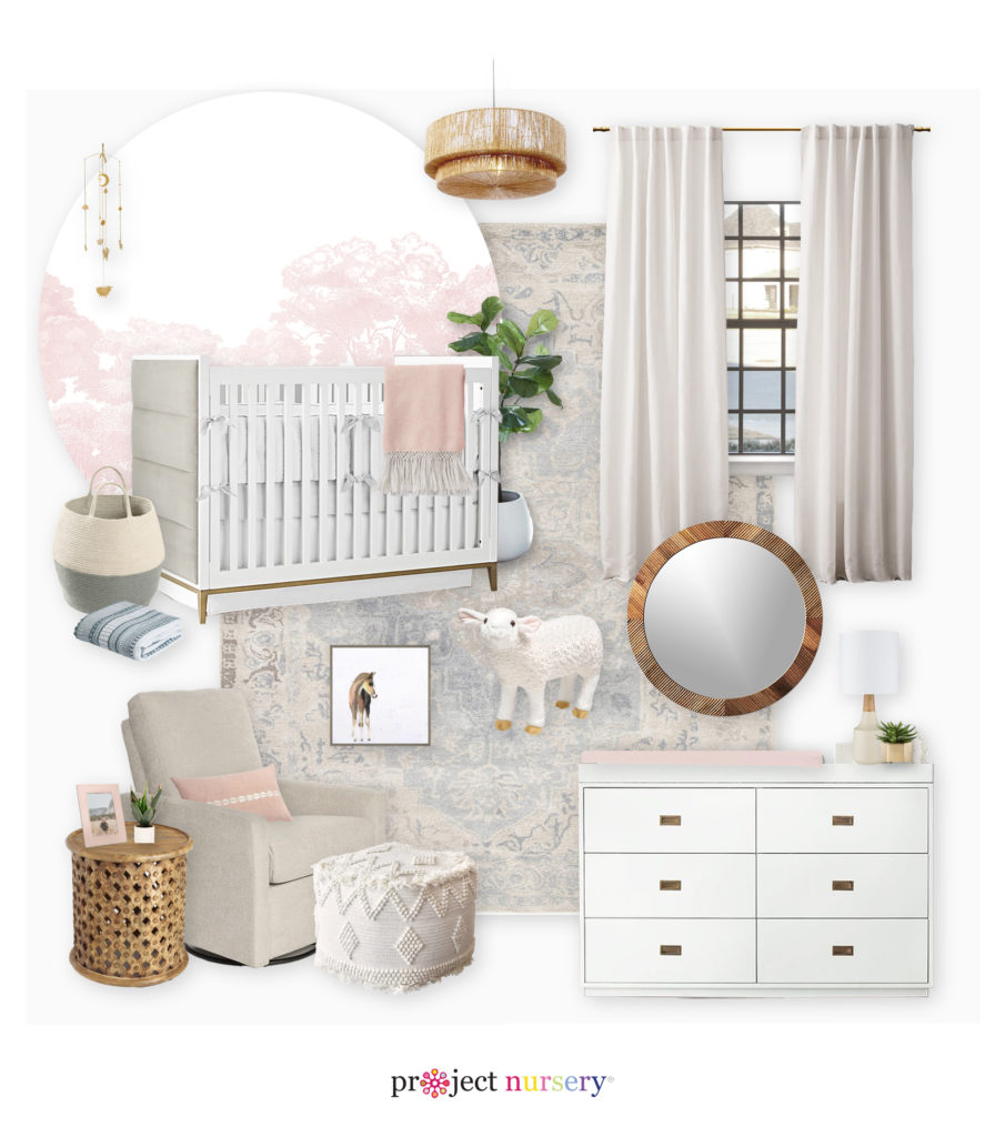 Gender Neutral Nursery E-Design by Little Crown Interiors