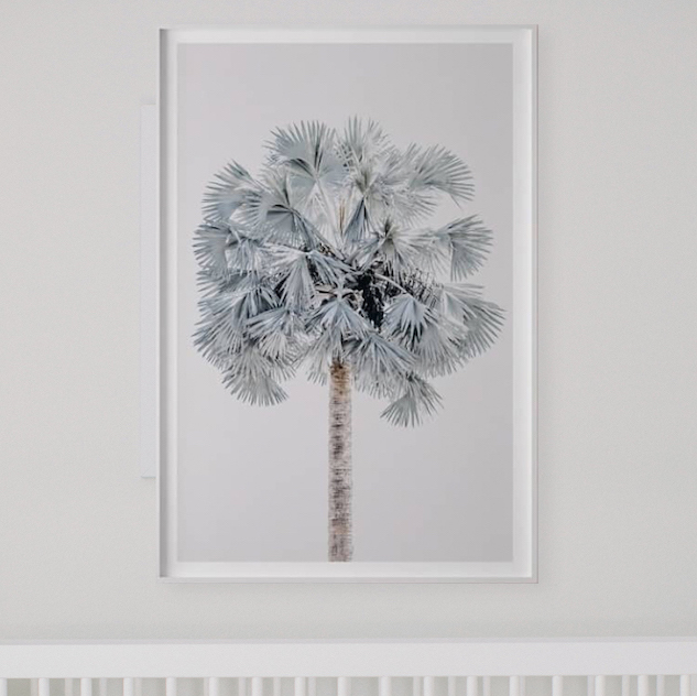 Blue Palm Tree Print | Little Crown Interiors Shop